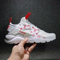 DCCKGV7 Best Online Sale LV x Supreme x Nike Air Huarache 4 Men Women Mesh Hurache Sport Running Shoes  Casual Shoes Sneakers 819685-106