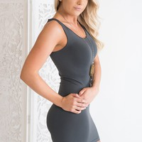 Amias Bodycon (Charcoal)