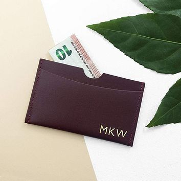 Best Personalized Gifts Luxury Leather Card Holder