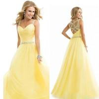[Best Quality Hi-end ]beautiful noble elegent long wedding enening formal party ball gown prom Bridesmaid Dress = 1946548740