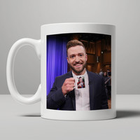 Justin Timberlake and Jimmy Fallon Coffee Mug Christmas Gift Mug, Tea Mug, Coffee Mug