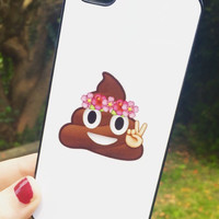 Iphone 5 5S Phone Case Emoji Icons Poop Print Hipster Phone Cover