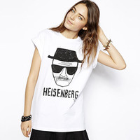 White Heisenberg Breaking Bad Portrait Graphic Tee