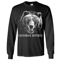 California Republic Grizzly Bear Long Sleeve Shirt by DSC