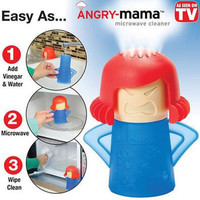 TRANSHOME Angry Mama Microwave Oven Steam Cleaner With Vinegar and Water Easy Cleans Household Kitchen Cleaning Tools