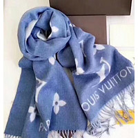 Inseva LV Louis Vuitton Cherry blossom fringe fashion accessories scarf.W-YH-FTMPE