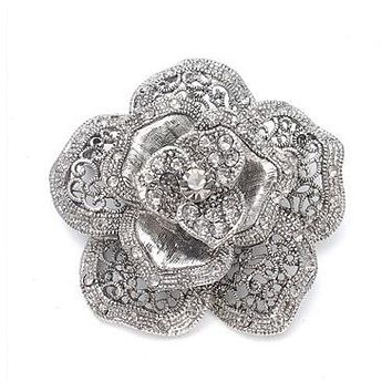 Vintage Rose Special Occasion Brooch 971P-AS