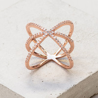 Criss Cross X Ring - Rose Gold