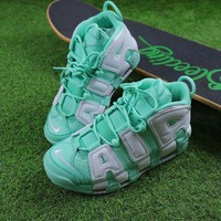 Tagre™ ONETOW Best Online Sale Nike Air More Uptempo QS Fluorescent Green Basketball Shoes Sneaker 415082-300