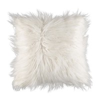 "White Faux Mongolian Decorative Pillow - 16""-Print Pillows-Decorative Pillows-Home Decor-For the Home 