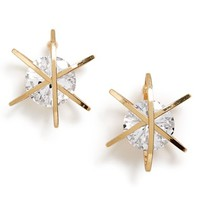 Women's Sole Society Wrapped Crystal Earrings - Gold