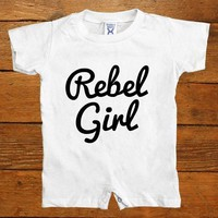 Rebel Girl -- Baby Onesuit