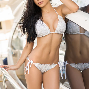 Crystal Scalloped & Scrunch Swimsuit