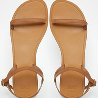 ASOS FATED Two Part Square Toe Leather Sandals