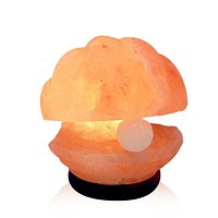 Himalayan Salt Clam with Pearl Salt Lamp