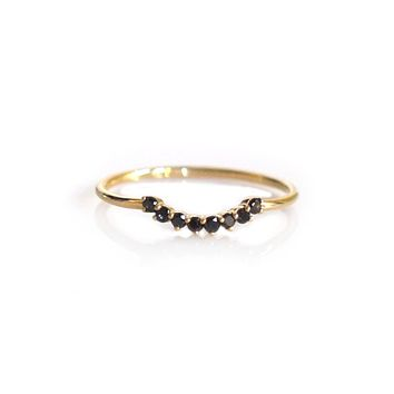 14kt Gold Black Diamond Cascade Ring