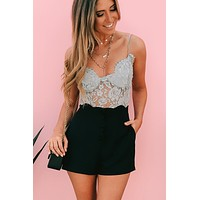 Lace Be Friends Bodysuit (Grey)
