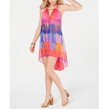 Inc Tie-Dyed Beach Dress, Created for Macys - Pink Multi