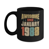 Vintage Retro Awesome Since January 1988 32th Birthday