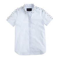 J.Crew Womens Collection Jeweled-Shoulder Shirt