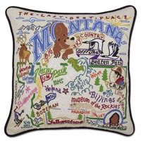 Montana Hand Embroidered Pillow