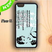 Dream colorful Audrey Hepburn Quoter Beautiful Eyes iPhone 6S Case