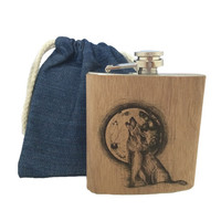 Spitfire Girl Flasks With Denim Bag