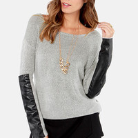 Knit's a Pleasure Black and Grey Sweater
