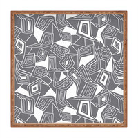 Heather Dutton Fragmented Grey Square Tray