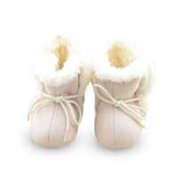 Infant Girl Fleece Crib Shoes born Toddler Boot Baby Walking Shoes PY5 SM6