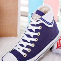 Anchor Embroidery Canvas Sneaker