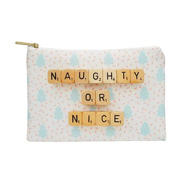 Happee Monkee Naughty or Nice Scrabble Pouch