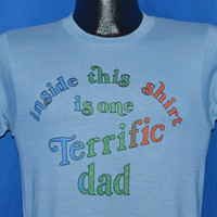 80s Inside This Shirt is One Terrific Dad t-shirt Small
