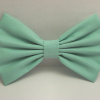 Mint Hair Bow Clip Mint Bow Mint Clip Big Bows Aqua Bow Green Bow Fabric Bow fabric Clip for kids hair bows for women hairbow hairbows