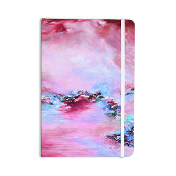 """Ebi Emporium """"Sea To Sky 3"""" Pink Abstract Everything Notebook"""