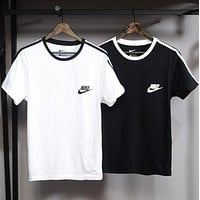NIKE Fashion Print Cotton Short Sleeve Shirt Top Tee