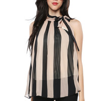 Papaya Clothing Online :: VERTICAL STRIPED CHIFFON TOP