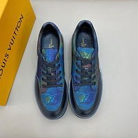 lv louis vuitton men fashion boots fashionable casual leather breathable sneakers running shoes 530