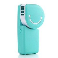 Cool Compact Air Conditioner Shape USB Rechargeable Battery Operated Cooling Handy Mini Fan For Office Home Travel Outdoor