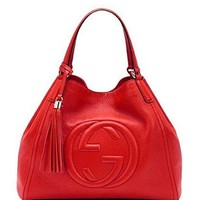 Gucci Women's s Fashion Red Leather Handbag