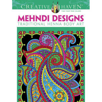 Creative Haven® Mehndi Designs Coloring Book: Traditional Henna Body Art