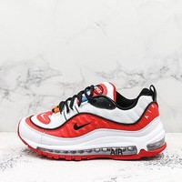 Off-white X Nike Air Max 98 White Red Black - Best Deal Online