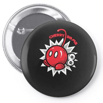 cherry bomb Pin-back button