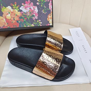 GUCCI Couple's three-dimensional printed slippers