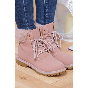 Cold Feet Ankle Boot (Pink)