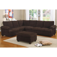Livorno Reversible L Shape Couch in Corduroy Finish | Overstock.com Shopping - The Best Deals on Sectional Sofas