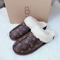UGG x LV Monogram Slippers