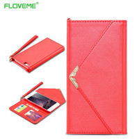 Fashion Wallet Case For iPhone 7 6 6S Plus Phone Accessories Bags Card Slot With Strap Pouch Cover For iPhone 7 Plus 6 6S Plus