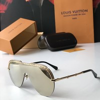 LV Louis Vuitton Women popular Summer Sun Shades Eyeglasses Glasses Sunglasses