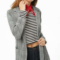 Glen Plaid Shawl Blazer